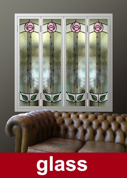 Glass-window-shutters-in-Renee-Mcintosh-style-green-tulips