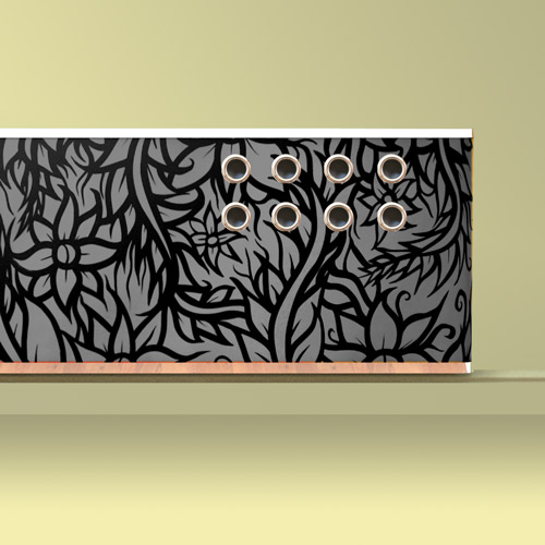 Graffiti-grey-radiator covers