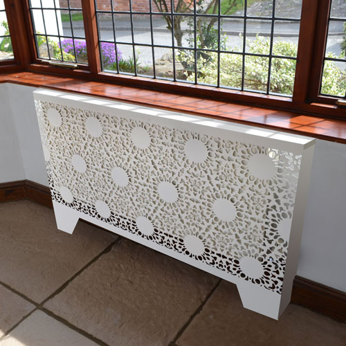 Nottingham Lace Radiator cover by Lace Furniture