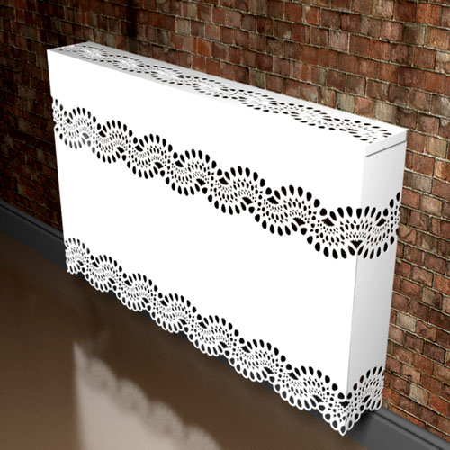 White Lace radiator cover from Lace Furniture