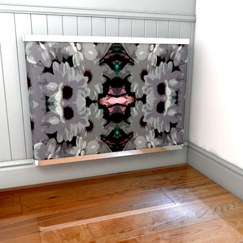 abstract-florals-radiator-cover by Alexandra Austin