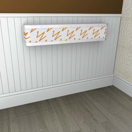 Mantel zigzag orange white Radiator Cover