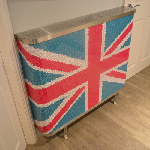 YOYO Union Jack Pink Radiator Cover