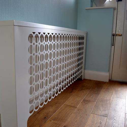 London radiator covers in satin white Radiator Cover