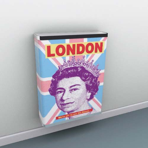 London Queen Radiator Cover
