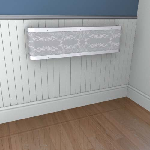 Organic Lace Mantel 1 Radiator Cover