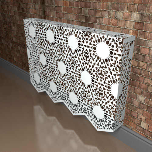 Nottingham Lace Fancy Radiator Cover