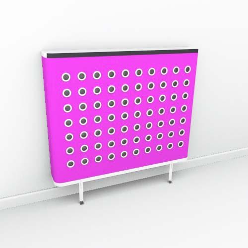 YOYO Colour Pink White Radiator Cover