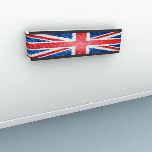 Union Jack Mosiac Radiator Cover