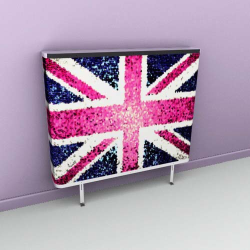 Union Jack Blur Radiator Cover