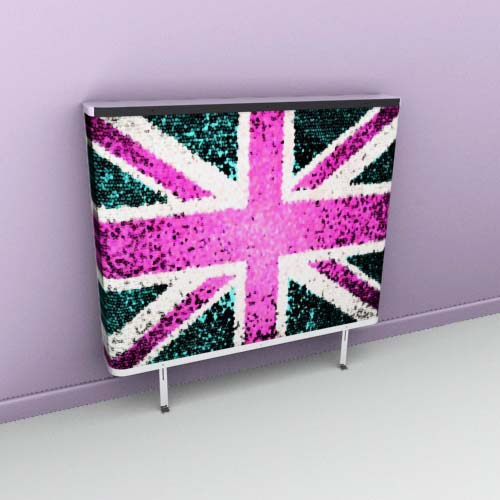 Union Jack Pink Radiator Cover