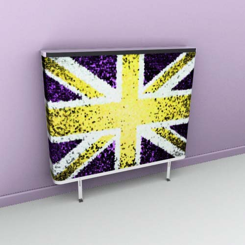 Union Jack Blur Yellow Radiator Cover