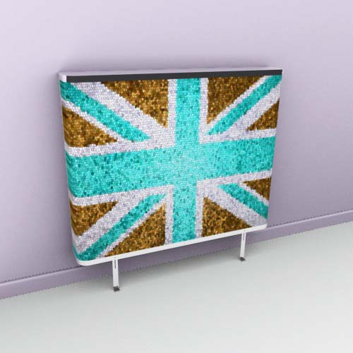 Union Jack Turquiose Radiator Cover