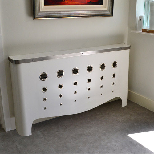 CASA Deco in satin white Radiator Cover