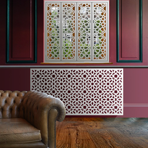 Arabic style laser covers Radiator Cover