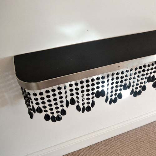 Crystal mantel black top Radiator Cover