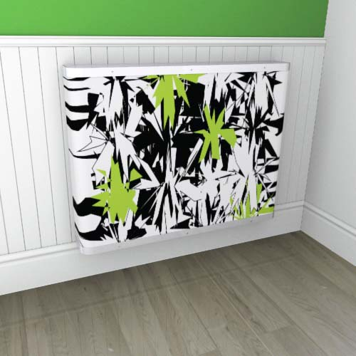 Starburst Green / Black 1 Radiator Cover
