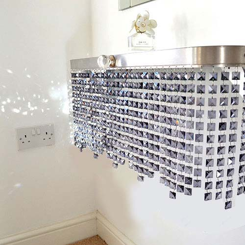 Grey Crystal shelving Radiator Cover