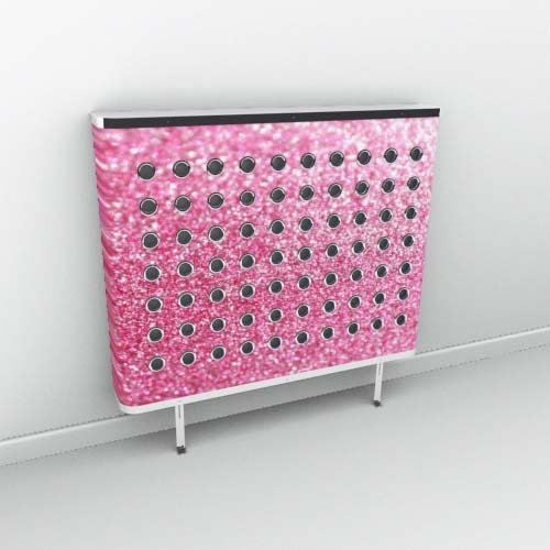Florida Pink Sparkle Radiator Cover