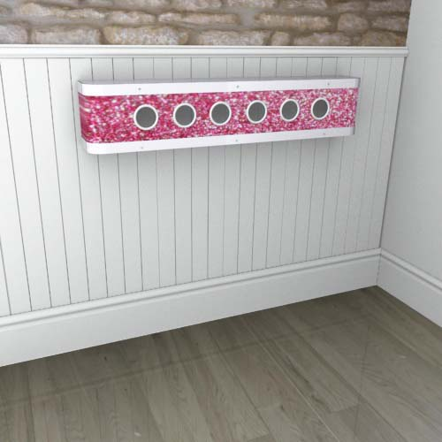 Florida Pink Sparkle Mantel Radiator Cover