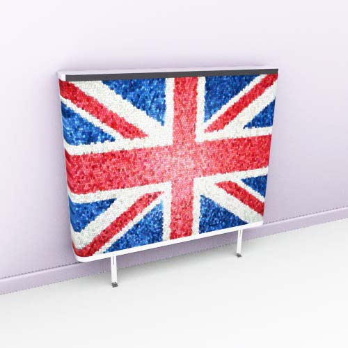 Union Jack Mosaic Radiator Cover