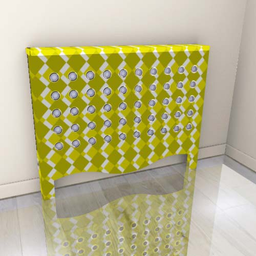 WAREHOUSE Green Geo Radiator Cover