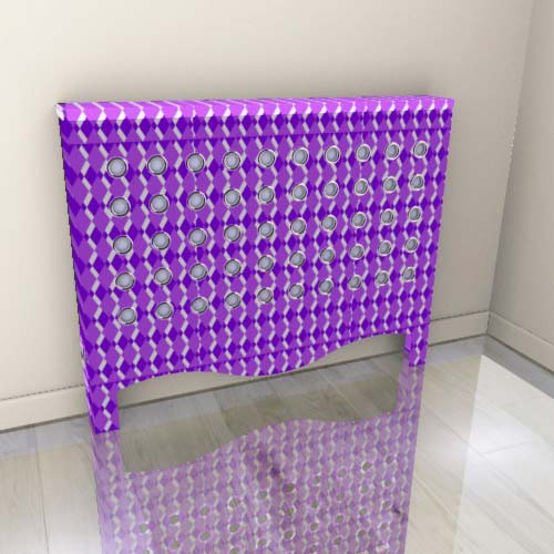 Geo Fine Purple Radiator Cover