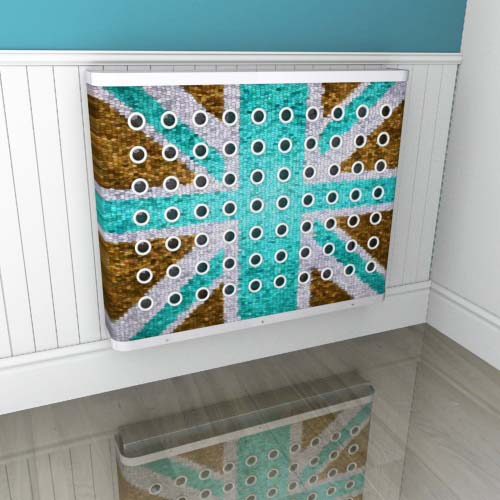 Brown Blue Mosaic Jack Radiator Cover
