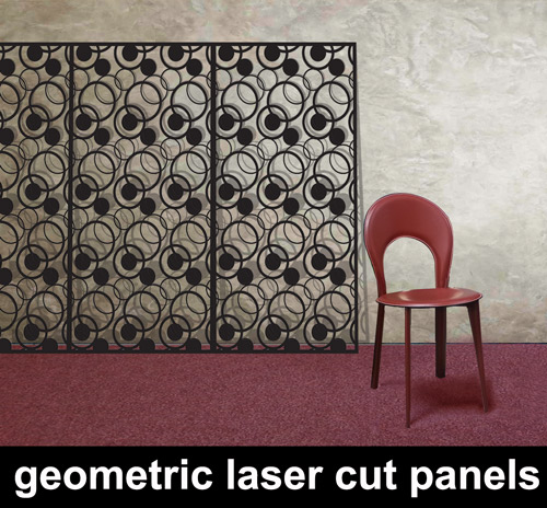 geometric-laser-cut metal -panels uk