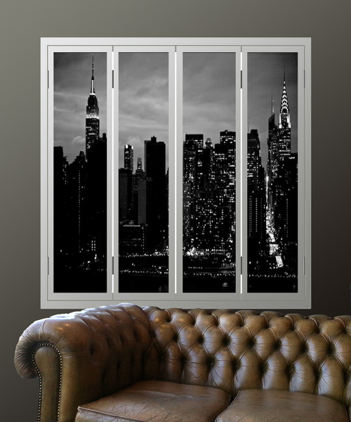 manhattan-window-shutters-with-night-skyline by Couture Cases