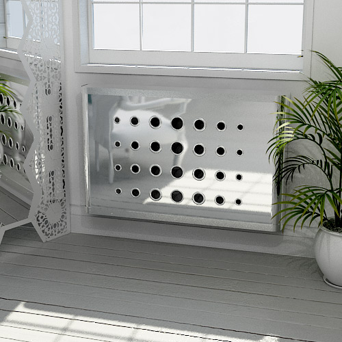 Chrome DECO Radiator Cover