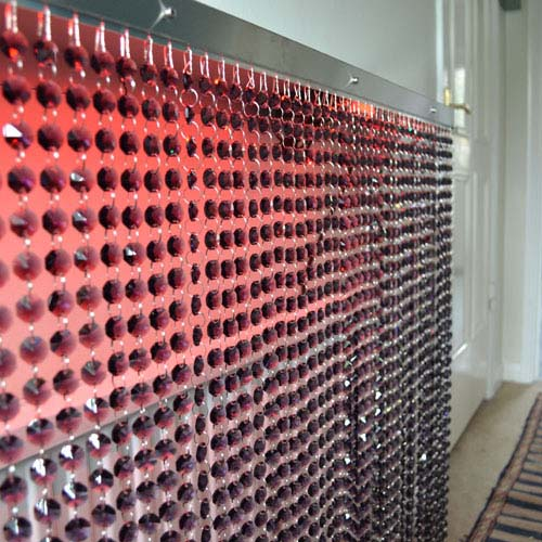Crystal Grey Red Lights Radiator Cover