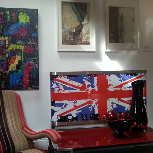 YOYO Union Jack Graffiti Radiator Cover