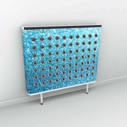 Azure sparkle Radiator Cover