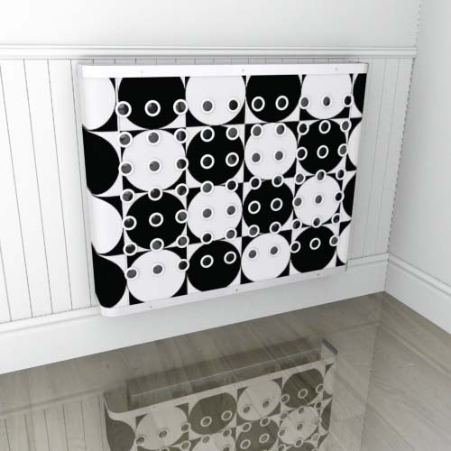 Black & White Geo3 Radiator Cover