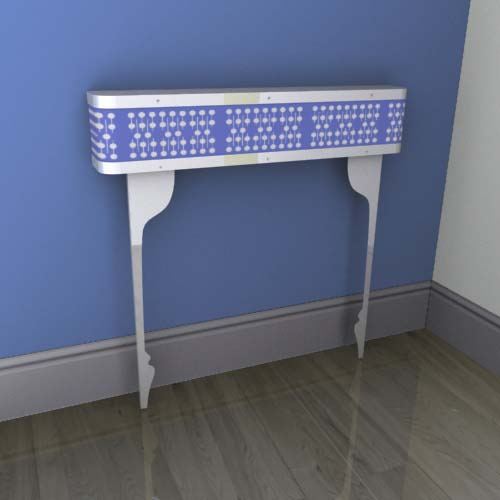 Blue Geodots Console Radiator Cover