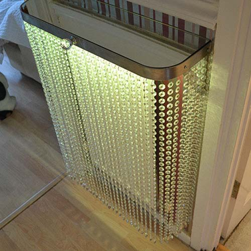 Crystal clear with yellow LED Light Radiator Cover