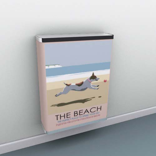 On the Beach Radiator Cover