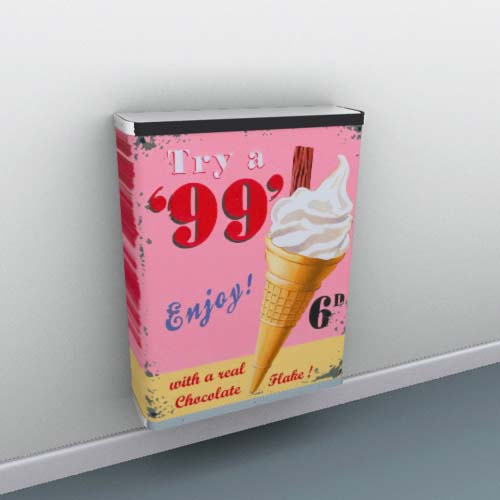 Hot summer illustrations by Martin Wiscombe Radiator Cover
