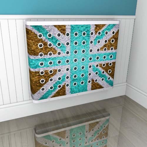 Brown Blue Mosaic Jack Radiator Cover