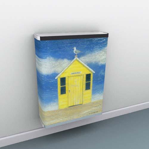 Yellow Beach Hut 1 Radiator Cover